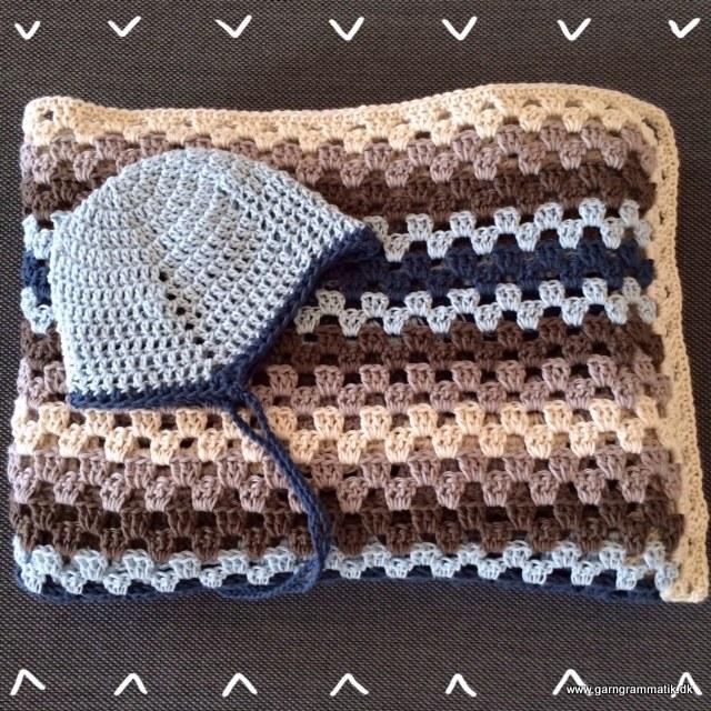 Granny Stripes Babytæppe og Djævlehue