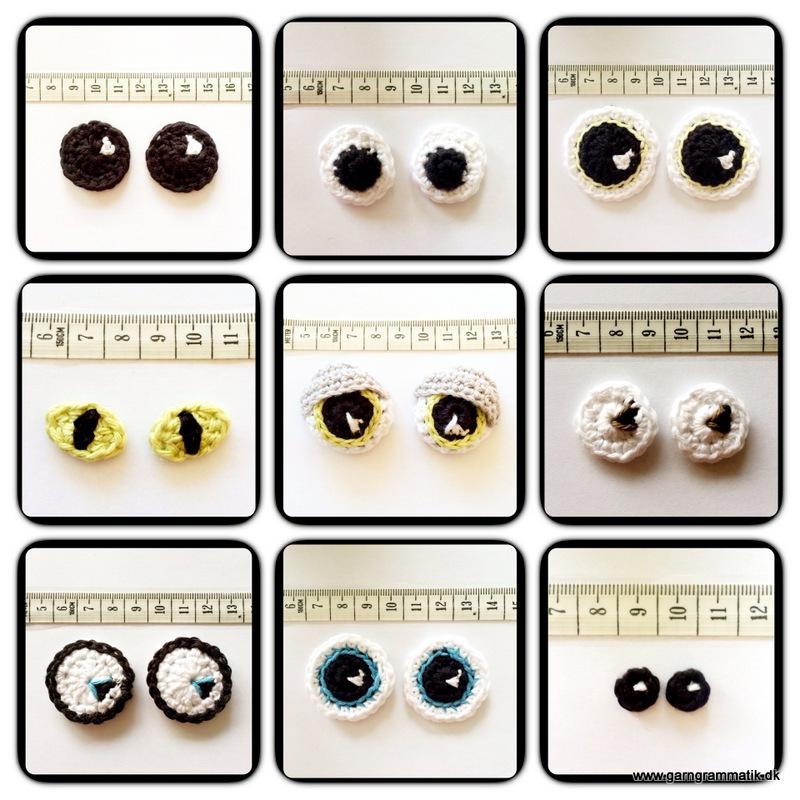 Crocheting Eyes : Men, hvis du vil kaste dig ud i ??ko-?jnene? og h?kle dem selv ...
