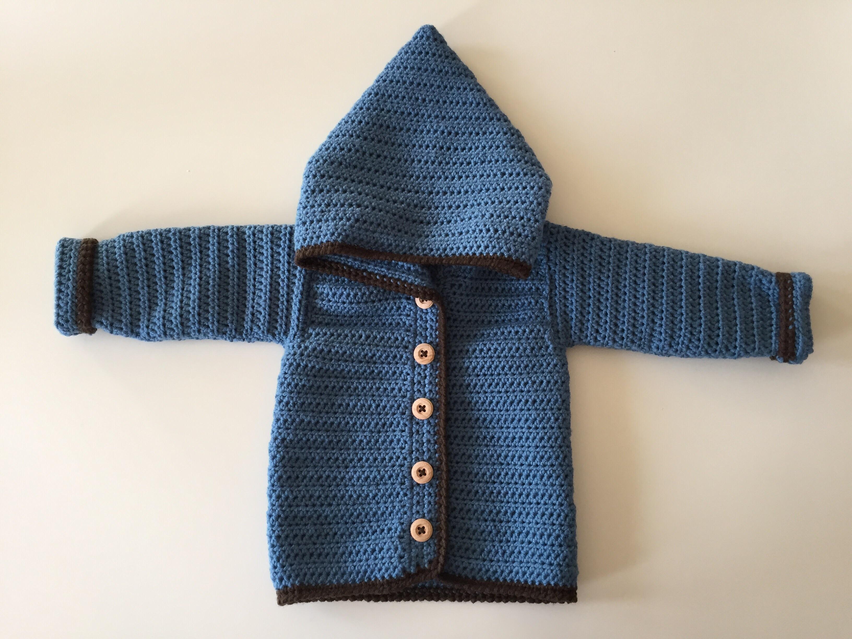 opskrift baby cardigan