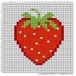 Mønster - Jordbær