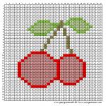 Mønster - Kirsebær