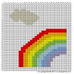 Mønster - Regnbue