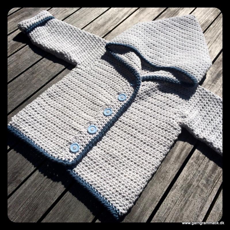 Baby hættetrøje med knapper_9
