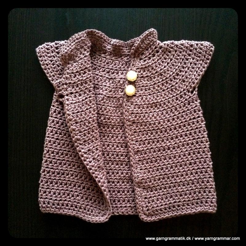 Baby cardigan med lille krave_4